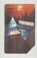 SCHEDA TELEFONICA..TEKNICA META...TIRATURA 40000 - Music