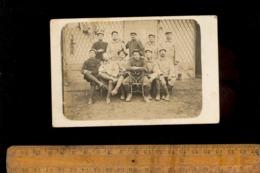 Photo Carte Photographie Militaire Soldats Différents Régiments Armée Chasseur Alpin Artillerie ... - Guerre 1914-18
