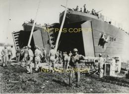 WWII Navires Débarquements Américains 1944/45 LST Landing Ship Tanks U.S.A. - Guerra, Militares