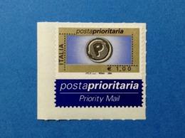 2004 ITALIA POSTA PRIORITARIA FRANCOBOLLO NUOVO STAMP MNH** PRIORITARIO 1,00 - 1946-.. République