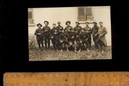 Photo Carte Photographie Militaire Armée Régiment Soldats Chasseur Alpin Prisonnier De Guerre - Guerre 1914-18
