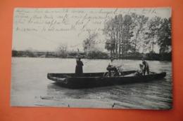 CPA 64 PYRENEES ATLANTIQUES SALIES DE BEARN. Environs De Salies, Castagnede. Le Bac. 1907. - Salies De Bearn