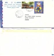 BENIN. LETTRE, COVER. OVERPRINT BENIN/DAHOMEY. UPU15F/45F + EGALITE. PAR AVION .  315F. COTONOU TO FRANCE - Benin – Dahomey (1960-...)