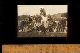 Photo Carte Photographie Militaire Prisonnier De Guerre Armée 51 101 Régiment Soldats Chasseur Alpin & Russes ? - Guerre 1914-18