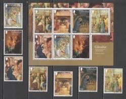 TT259 2018 GIBRALTAR ART PAINTINGS BIRTH AND ADORATION OF JESUS CHRIST #1887-93 !!! MICHEL 28 EURO !!! 1SET+1SH MNH - Religie