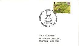 Chess Schach Echecs Ajedrez -Ballasalla. Isle Of Man 1979_International Tournament_Millenium Of Tynwald_Cover_CKM 7952 - Schach