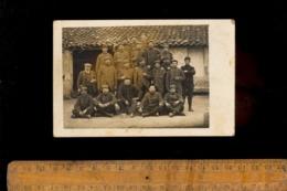 Photo Carte Photographie Militaire Régiment Soldats En 1915 - Guerre 1914-18