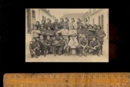 Photo Carte Photographie Militaire Régiment Soldats 27 BCA Chasseurs Alpins Chasseur Alpin Chambrée ISLY - Regiments