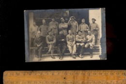 Photo Carte Photographie Militaire 142 Régiment Soldats Dont Chasseurs Alpins  Blessés De Guerre - Guerre 1914-18