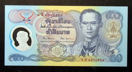 Thailand Banknote 50 Baht 1996 Golden Jubilee HM Accession To Throne Polymer P#99 SIGN#67 - Thailand