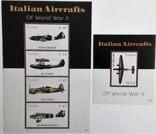 # Tuvalu 2015**Mi.2166-70 Italian Fighters From The Second World War , MNH [14;12] - 2. Weltkrieg