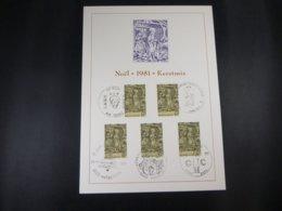 """BELG.1981 2030 FDC Filatelic Card: """" Kerstmis/Noél """" - FDC"""