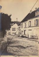 Photo Originale 1898 Linas Rue Du Village Tour De Montlhery 91 Essone  Beau Format - Lieux