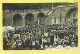 * Lourdes (Dép 65 - Hautes Pyrénées - France) * (LL - COULEUR) Bénédiction Des Malades, Cortège, Stoet, Animée - Lourdes