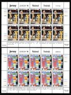 1998 Jersey EUROPA CEPT EUROPE 10 Serie Di 2v. MNH** In Minifoglio 2 Minisheets - Europa-CEPT