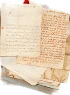 50 Lettres Manuscrites Signées Du 17e-18e-19e Siècles.Noblesses NORMANDES. - Historische Documenten