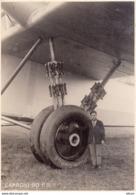 Aviazione, 2° Guerra Mondiale - Foto Caproni 90 B.P., Bel Particolare Del Carrello - Aviación
