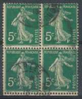 [803677]TB//O/Used-c:8e-137, 5c Vert, Semeuse Camée, Type IIA (Q Normal), En BD4 - 1906-38 Säerin, Untergrund Glatt