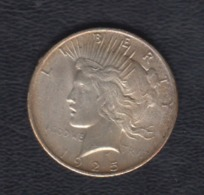 ESTADOS UNIDOS. AÑO 1925.-  1 DOLAR PLATA. PESO 26,70 GR - Emissioni Federali