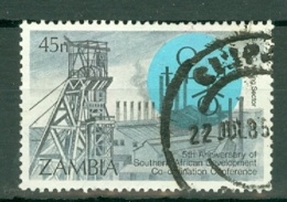 Zambia: 1985   5th Anniv Of Southern African Development Co-ordination Conference   SG430   45n     Used - Zambia (1965-...)