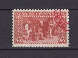 Bosnien-Herzegowina - Österreichische Besetzung - 1906 - Michel Nr. 40 C - Gez. 9 1/4 - Stempel Rot - 56 Euro - Bosnien-Herzegowina