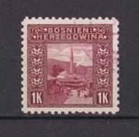 Bosnien-Herzegowina - Österreichische Besetzung - 1906 - Michel Nr. 42 C - Gez. 9 1/4 - Stempel Rot - 90 Euro - Bosnien-Herzegowina