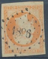 [42471]TB//O/Used-c:30e-N° 16b, 40c Orange Sur Paille, 1853-60, Bien Margé, Très Frais, Obl. Losange PC '1896' MARSEILLE - 1853-1860 Napoléon III