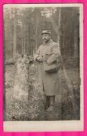 Cp Photo - Portrait De Militaire Des Tranchées D'Alsace - Forêt - Guerre 1914-18
