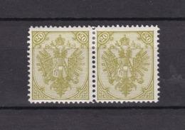 Bosnien-Herzegowina - Österreichische Besetzung - 1879/98 - Michel Nr. 8 II Paar - 40 Euro - Bosnien-Herzegowina