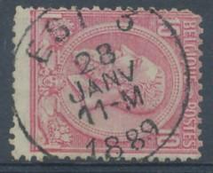 [43575]B/TB//O/Used-N° 46, Superbe Obl Centrale 'Est 3', Nipa +6? - 1884-1891 Leopold II.