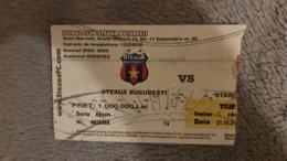 Football Ticket Steaua Bucharest- Standard Liege - Tickets - Entradas