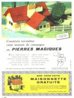 """PUB MAISON De CAMPAGNE  """" PIERRES  MAGIQUES  """" 1962 (3) - Autres Collections"""