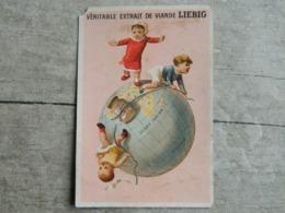 CHROMO  COMPAGNIE LIEBIG    ENFANTS SUR UN GLOBE - Liebig