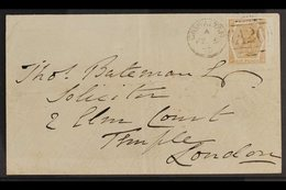 1873 (Feb 5th) Cover To London Bearing GB 1872 QV 6d Pale Buff Plate 11, (SG Z47), Tied By Complete & Upright Gibraltar  - Gibilterra