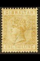 1886-87 1s Bistre, SG 14, Very Lightly Used For More Images, Please Visit Http://www.sandafayre.com/itemdetails.aspx?s=6 - Gibilterra