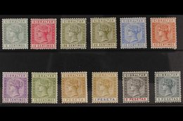 1889 Spanish Currency Set Complete, SG 22/33, Very Fine Mint. (12 Stamps) For More Images, Please Visit Http://www.sanda - Gibilterra