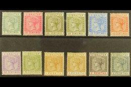 1889-96 Complete Set, SG 22/33, Fine Mint, Fresh Colours. (12 Stamps) For More Images, Please Visit Http://www.sandafayr - Gibilterra