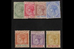 1898 Reissue In Sterling Set Complete, SG 39/45, Very Fine Mint. (7 Stamps) For More Images, Please Visit Http://www.san - Gibilterra