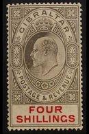 1906-11 KEVII 4s Black & Carmine, SG 73, Very Fine Mint. For More Images, Please Visit Http://www.sandafayre.com/itemdet - Gibilterra