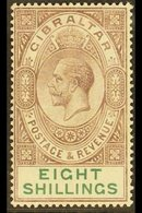 1921-27 8s Dull Purple And Green, Wmk Mult Script CA, SG 101, Mint Lightly Hinged. Fresh! For More Images, Please Visit  - Gibilterra