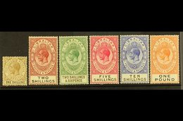 1925-32 Definitive Set Complete To £1, SG 102/107, Very Fine Mint. (6 Stamps) For More Images, Please Visit Http://www.s - Gibilterra