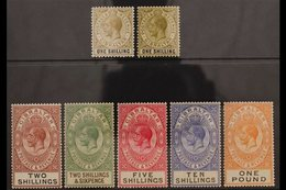 1925-32 HIGH VALUES. KGV(new Colours) High Value Definitive Set Complete To £1 Red-orange And Black, SG 102/107, With B - Gibilterra