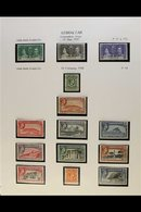 1937-51 FINE MINT COLLECTION A Lovely Complete Collection Of The Basic King George VI Issues Neatly Presented On Album P - Gibilterra