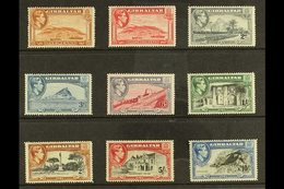 1938-51 A Complete Set Of All The Perf 14 Printings With 1d Yellow-brown, 1½d Carmine, 2d Grey, And 3d Light Blue, Plus  - Gibilterra