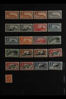1938-51 DEFINITIVES FINE MINT RANGE incl. 1d Perf. 14 And Perf. 13½, 2d Perf. 14, 3d Perf. 13½ And Perf. 14, 1s Perf. 1 - Gibilterra