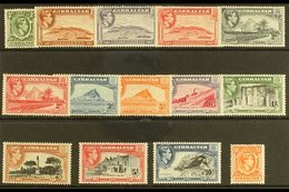 1938-51 Pictorial Definitive Set, SG 121/31, Very Fine Lightly Hinged Mint (14 Stamps) For More Images, Please Visit Htt - Gibilterra