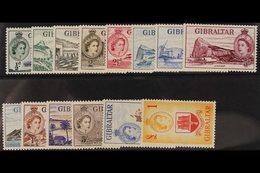 1953 Pictorial Set, SG 145/158, Fine Never Hinged Mint. (14 Stamps) For More Images, Please Visit Http://www.sandafayre. - Gibilterra