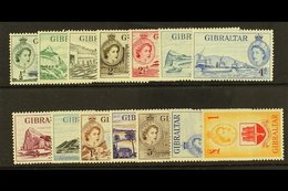 1953 QEII Pictorial Set Complete, SG 145/58, Very Fine And Fresh Mint. (14 Stamps) For More Images, Please Visit Http:// - Gibilterra