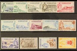 1953-59 Definitive Complete Set, SG 145/58, Very Fine Mint (14 Stamps) For More Images, Please Visit Http://www.sandafay - Gibilterra