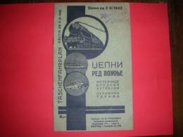 R!,Yugoslavia Kingdom,Serbia,occupation,pocket Timetable,railway,ship,bus,train,boat,advertising,advertisement,vintage - Europa